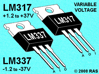 10 Pc Set 6 Lm317 Positive 4 Lm337 Negative