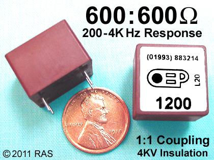 Isolation Telephone Signal TRANSFORMER Mini 600 Ohm Telecom for Coupling